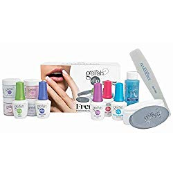 Gelish French Tip Acrilic Powder Dip Nail Kit