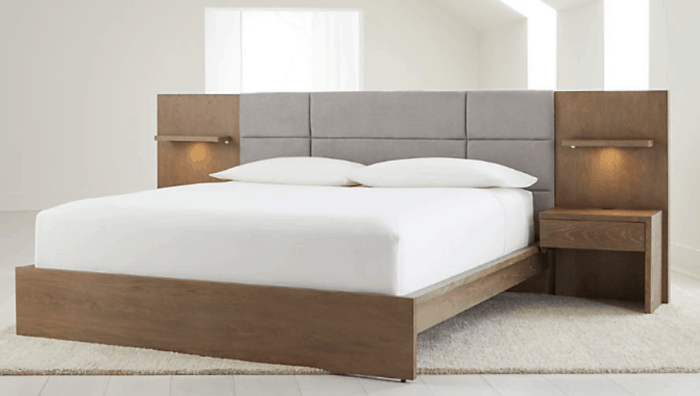 Atlas King Bed with Panel Nightstands