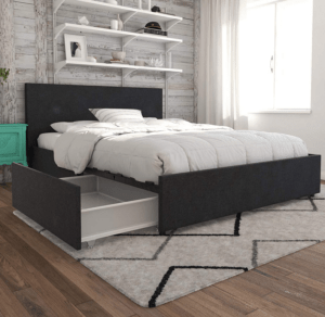 Novogratz Kelly Upholstered Storage Platform Bed