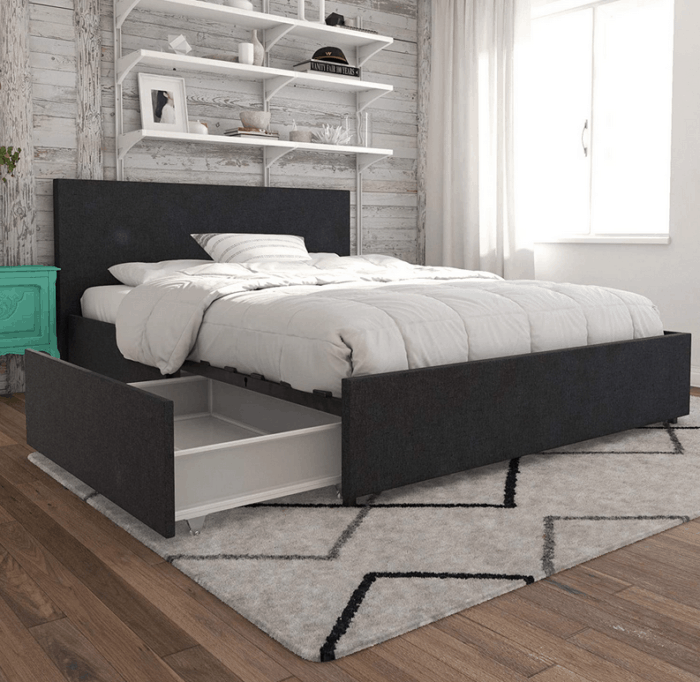 Novagratz Kelly Upholstered Storage Platform Bed