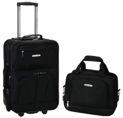 Rockland Softside Upright Luggage Set